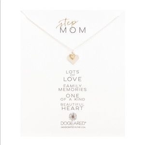 """Dogeared """"Step-Mom"""" Double Heart Charm Necklace"""